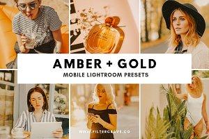 Amber + Gold Mobile Presets