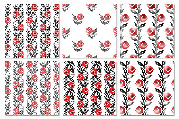 Ukrainian Ethnic Seamless Patterns in Patterns - product preview 5