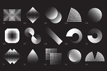 60 Vector Halftones. Part 1 by  in Objects