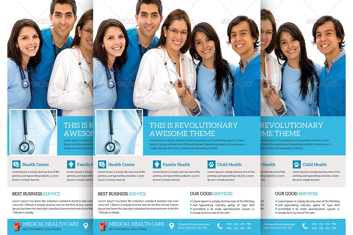 Medical Doctor Flyer Template Flyer Templates Creative Market