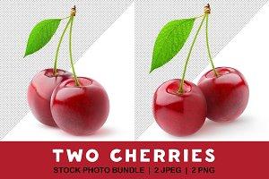 Two sweet cherries