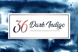 Dark Indigo background watercolor