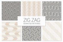 Zig Zag Seamless Patterns Set