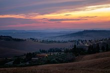 Colorful sunset in Tuscany by  in Nature