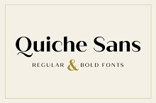 Quiche Sans Regular & Bold Fonts by  in Sans Serif Fonts