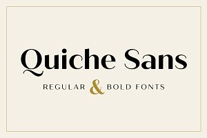 Quiche Sans Regular & Bold Fonts