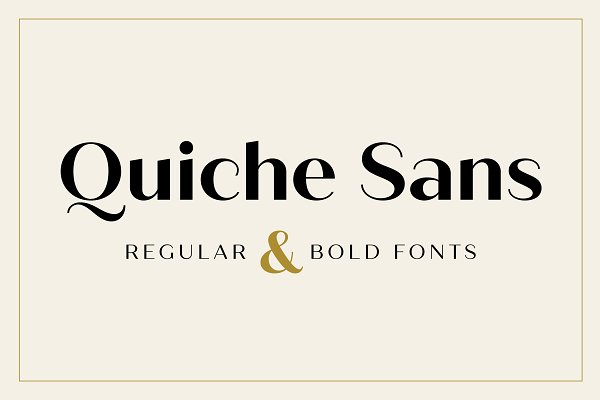 Fonts: Adam Ladd - Quiche Sans Regular & Bold Fonts