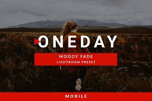 Mobile Oneday : Moody Fade Lr preset
