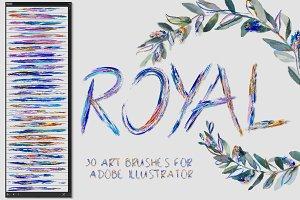 Royal Brushes for Illustrator