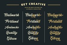 Heather Oliver - A Modern Script by  in Fonts