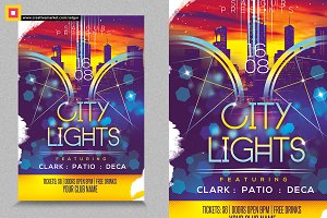 City Lights Party Flyer
