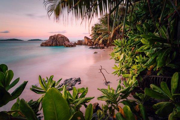 Nature Stock Photos: Miniloc - Paradise exotic beach on La Digue