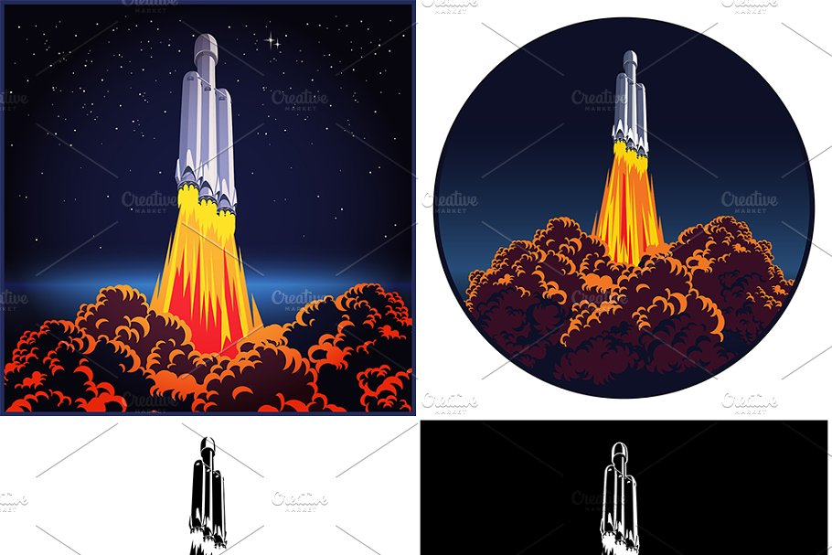 Space rocket launch mini Set