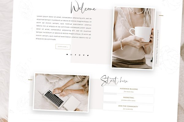 WordPress Business Themes: Adalaine Design - ParisianGirl-Wordpress Genesis Theme