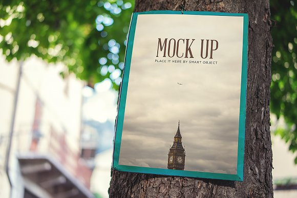 Free Realistic Poster Mock Up