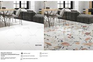 Floor Mockup Livingroom Scene SM64