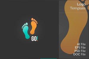 Footsteps Logo Symbol