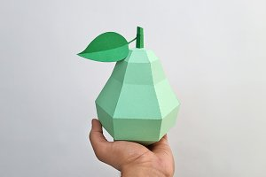 DIY Pear - 3d papercraft