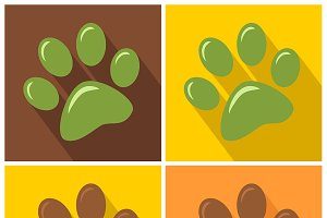 Paw Print. Collection Set