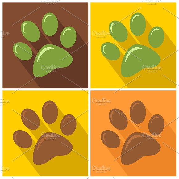 Paw Print. Collection Set - Illustrations