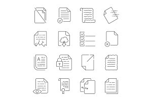 Simple set of vector icons for flow
