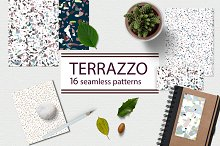 Terrazzo style pattern set by  in Graphics