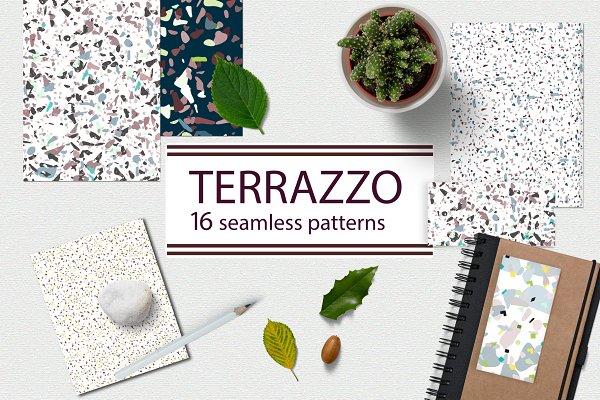 Graphics - Terrazzo style pattern set