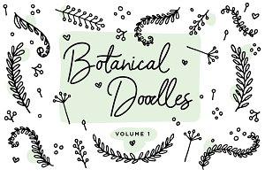Botanical Line Doodles vol. 1