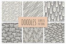 Doodles. Seamless Patterns Set 2