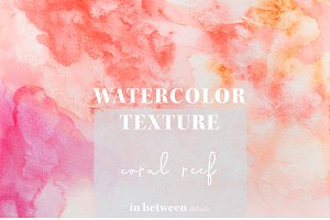Coral Watercolor Texture Background