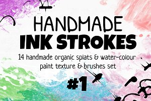 Handmade INK STROKES Pack 14 #1