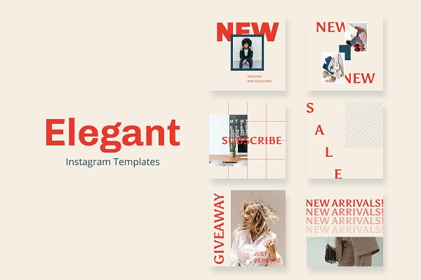 Social Media Templates: OCD Studio - Elegant Instagram