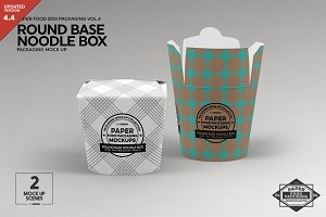 Round Base Noodle Box Mockup