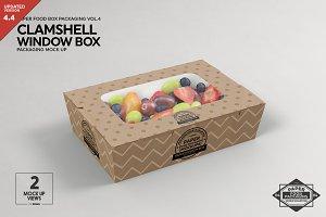 Clamshell Window Box Mockup