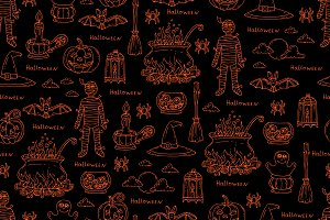 Pattern on the theme of Halloween