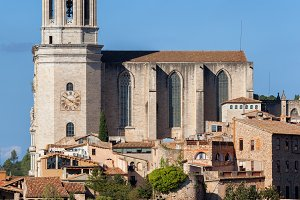 Girona Cathedral and Cityscape