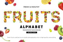 Fruits and berries alphabet by  in Graphics