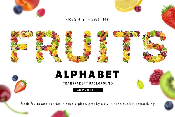 Graphics: Max Lashcheuski - Fruits and berries alphabet