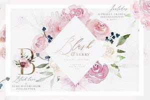 Blush & Berry Wedding Watercolor Set