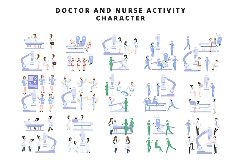 Doctor and Nurse Activity Character