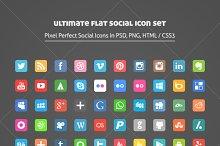 Ultimate Flat Social Icon Set