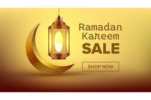 Ramadan Sale Banner Vector. Arabian