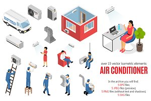 Air Conditioner Isometric Set
