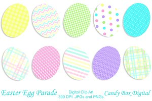 Patterned Easter Egg Clip Art