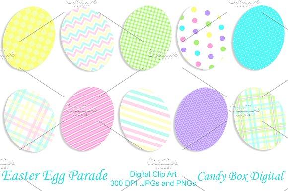 Patterned Easter Egg Clip Art