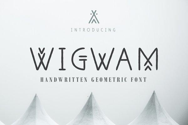 Fonts: Struvictory.art - Wigwam - Handwritten Geometric Font