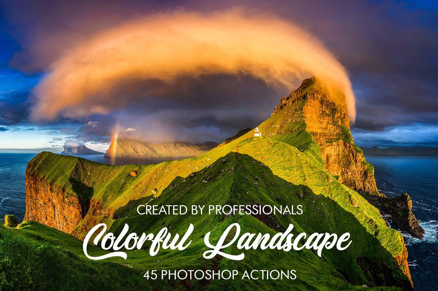 Colorful Landscape Photoshop Actions Unique Photoshop Add Ons Creative Market