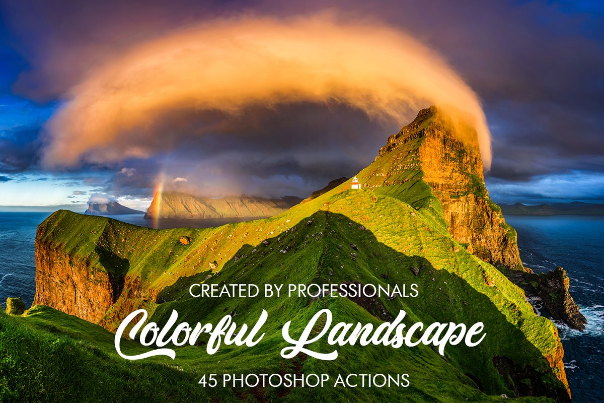 Colorful Landscape Photoshop Actions ~ Photoshop Add-Ons ~ Creative