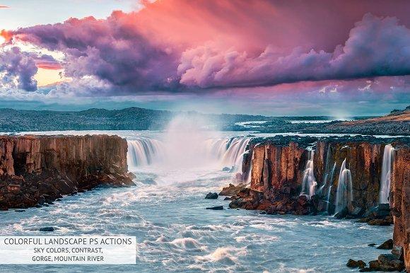 Colorful Landscape Photoshop Actions