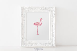 Pink Flamingo Printable Art